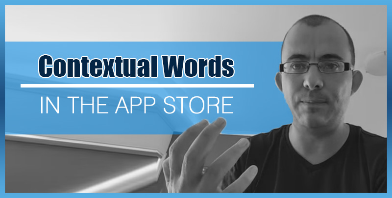The way contextual words work in the App Store (Apple)